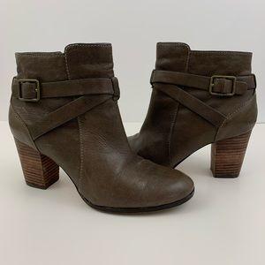 Cole Haan Brown Hinckley Bootie Ankle Boots Buckle